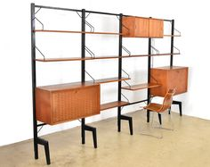 Wall unit by Poul Cadovius for Royal System 1950s