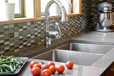 Grayscale backsplash | Model Remodel, Seattle, WA