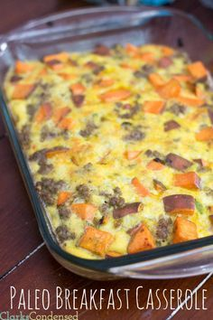 Easy and delicious paleo breakfast casserole #SkinnyFoxDetox [ SkinnyFoxDetox.com ]