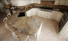 A Beautiful Granite Countertop By Stone Interiors New Orleans