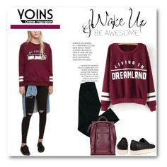 """""""Burgundy Sweatshirt"""" by lovee39 ❤ liked on Polyvore featuring Comptoir Des Cotonniers, women's clothing, women's fashion, women, female, woman, misses and juniors"""