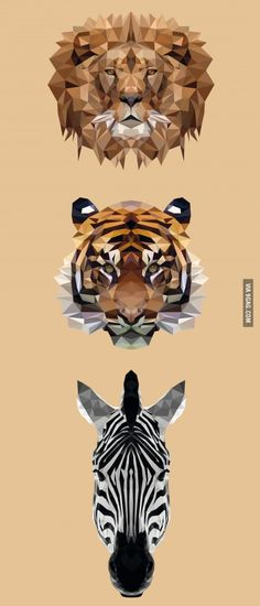 Once I saw a post of a low poly tiger, think I nailed it