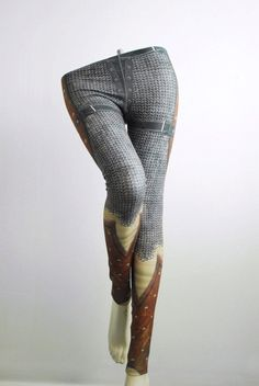 Crusader Leggings Size XXL Printed Chainmail Tights by Mitmunk These would be awesome if I had an extra eighty bucks.