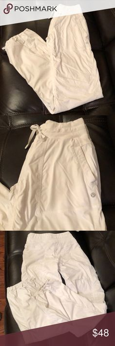 Lulu Lemon white pants Excellent condition lined pants lululemon athletica Pants Track Pants & Joggers