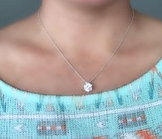Solitare Diamond Necklace, Floating Diamond Necklace, Classy Silver Pendant Necklace, Mother's Day Pendant Necklaces, CZ Necklace, Graduation Gift, https://www.etsy.com/listing/525256059/solitare-diamond-necklace-floating