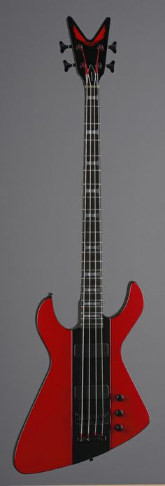 Dean Demonator 4 Bass - Red/Black