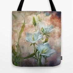 Campanula on the Wild Side Tote Bag by Teresa Pople - $22.00