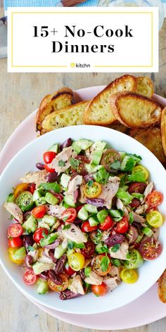 22 No Cook Dinners to Keep in Your Meal Plan This Summer. Need easy recipes and ideas for meals that will keep your kitchen and house cool? These are great for camping if you're trying to meal prep or Healthy Summer Dinner Recipes, Easy Summer Dinners, Lunch Recipes, Healthy Recipes, Easy Recipes, Chex Mix, Healthy Cooking, Cooking Recipes, Healthy Camping Meals