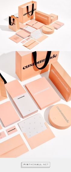 Visual identity for Custommade via homework curated by Packaging Diva PD. So simple love the color identity packaging branding.