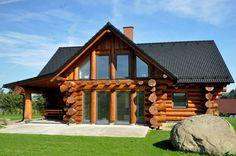 Srub Diy Log Cabin, Log Cabins, Log Homes, Home Fashion, Gazebo, Outdoor Structures, House Styles, Home Decor, Garden