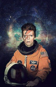 David Bowie Astronaut Poster A Major Tom Space por Redfunkovich. Who doesn't love David Bowie? Rock And Roll, Boy George, Stoner Rock, The Thin White Duke, We Will Rock You, Ziggy Stardust, Music Icon, Cultura Pop, My Idol