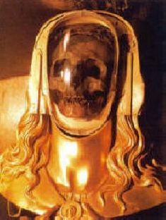 The Mary Magdalene Reliquary is located in a crypt beneath the Basilica to Mary Magdalene in Saint Maximin de Provence, France (above center) where Mary Magdalene is purportedly buried. The reliquary contains what many believe is Mary Magdalene's skull. According to local beliefs, Mary Magdalene left Palestine with Mary (the mother of Jesus) and Mary (the aunt of Jesus) and landed at what is today known as Sts. Marie de la Mer, a small village on the Mediterrane
