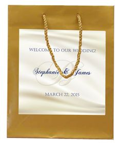 $50 for 20 Soft Gold on Ivory Wedding Welcome Bags #welcomebags
