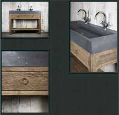 belgisch hardsteen en scheepshout Small Bathroom Renovations, Old Home Remodel, Belgian Style, Rustic Bathrooms, Bed & Bath, Master Bathroom, Toilet, Living Spaces, Interior