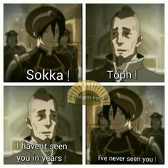 """Avatar: The Legend of Korra"" - Sokka and Toph. Avatar Aang, Suki Avatar, Avatar The Last Airbender Funny, The Last Avatar, Avatar Funny, Team Avatar, Avatar Airbender, Avatar Facts, Zuko"