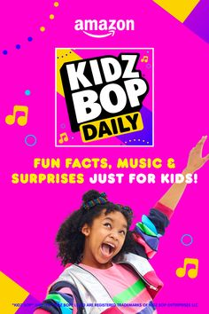 The best way to start your day! Enable the Amazon KIDZ BOP Daily flash briefing skill to get the latest news, fun facts, and KIDZ BOP music, by kids for kids. Check back every morning to make sure you don't miss an update from the KIDZ BOP Kids! Kids Bop, Daily Fun Facts, Alexa Skills, Uk Music, Music And Movement, Just Kidding, Number One, Tik Tok, Music Videos