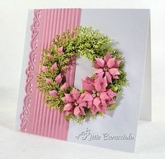 Spellbinders Layered Poinsettias, MS Pine Branch punch
