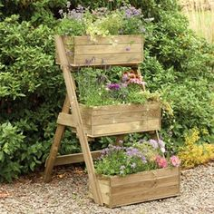 Forest Garden Cascade Wooden Raised Vegetable Bed Planter