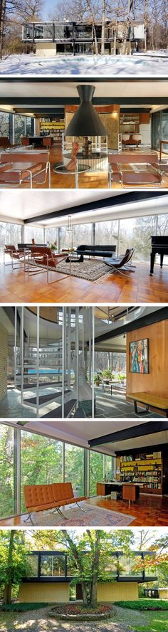 located in Lake Forest, Illinois, was designed by modernist architect Jack Viks, a former student of Mies van der Rohe. The home was built in 1960