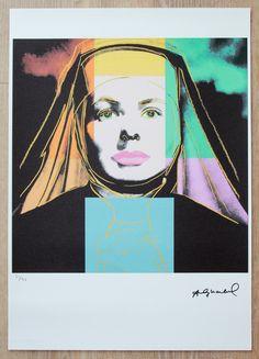 Ingrid Bergman, Nun, Andy Warhol, Art For Sale, Disney Characters, Fictional Characters, Stamp, Etsy Shop, Disney Princess