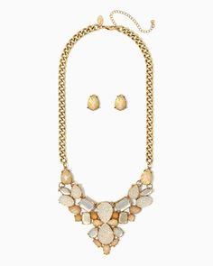 charming charlie | Damia Shimmer Necklace Set | UPC: 410007415507 #charmingcharlie