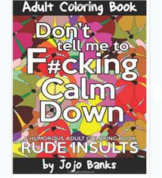 Coloring Book For Adults Swear Words Stress Relief Designs Relaxing Patterns Fun #coloringbook #adultscoloring