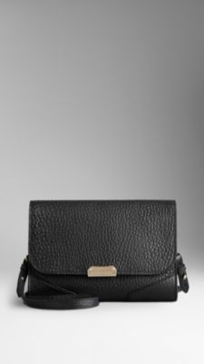 Small Heritage Grain Leather Crossbody Bag