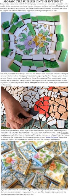 Mosaic Tile Supplies On The Internet