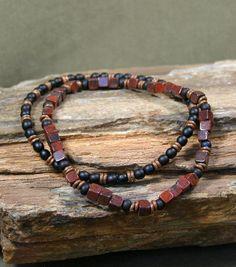 Mens Bracelet  Mans Jewelry  Beaded Bracelet  by StoneWearDesigns