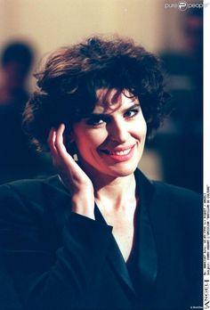 Fanny Ardant, brune, lors de l'émission Bouillon de culture en septembre 1994.