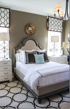 "A bedroom rug should extend 2/3 of the way under the bed and should be wide enough for your feet to land on the floor when you get out of bed. Learn more about the ""Rug Rules"" at SwatchPop!..."