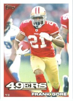 2010 Topps #257 Frank Gore - San Francisco 49ers (Football Cards) by Topps. $0.79. 2010 Topps #257 Frank Gore - San Francisco 49ers (Football Cards)