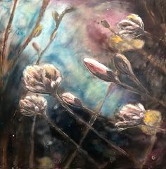 Encaustic paiting by Amie Brand Wax Art, Encaustic Art, Source Of Inspiration, Botanical Art, Mixed Media Art, Insta Art, I Am Awesome, Contemporary Art, Abstract Art