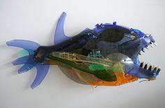 Sayaka Ganz's Animal Sculptures Made of Salvaged Plastic