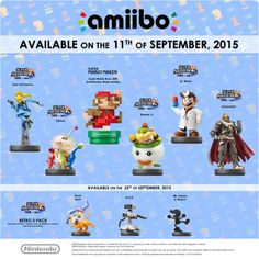 8-bit Mario, Ganondorf, and Zero Suit Samus Among New amiibo Figures Coming Next Month