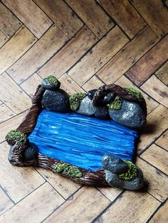 Check out this item in my Etsy shop https://www.etsy.com/listing/557540561/polymer-clay-mossy-stone-river-stream