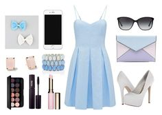 Baby blue by leandra-rebeka on Polyvore featuring polyvore, fashion, style, Forever New, Steve Madden, Rebecca Minkoff, Full Tilt, Bulgari, Clarins, INIKA and Kate Spade