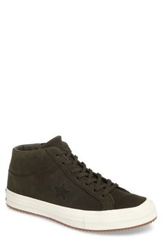 CONVERSE ONE STAR MID SNEAKER. #converse #shoes #