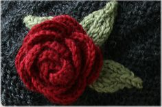 Free Knit Rose Flower Pattern — Crafthubs