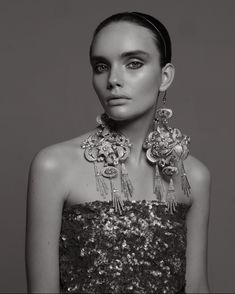 Earrings by Yana Markova , , , Headdress, Headpiece, Markova, Hosting Company, Eco Friendly, Fashion Jewelry, Earrings, Silver, Stuff To Buy