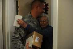 Delivering a lil holiday cheer! (U.S. Air Force photo by Senior Airman Joe McFadden)