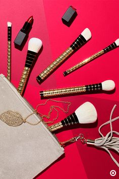 Bling it on with this limited-edition Facet-nating Brush Set from beauty expert Sonia Kashuk. The 10 pieces include large and small brushes for powder and blush; angled brushes for foundation and creases; pointed brushes for concealing and blending; a flat-top brush for eyeliner and more. In a metallic finish, this set makes the perfect holiday gift for the makeup maven on your list and … if one makes it under your tree, too, there's no shame in that.