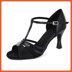 Yiteli Women's Latin Ballroom Dance Shoes Salsa Tango Open-toe Sandals,Black Patent Leather,12 D(M) US - Athletic shoes for women (*Amazon Partner-Link)
