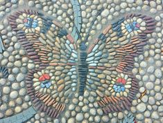 Pebble art butterfly