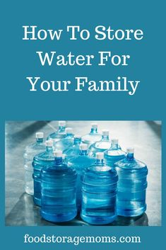 How to store water for your family for drinking, cooking, personal hygiene, and washing your clothes. Please be self-reliant, your life may depend on it. Survival Supplies, Emergency Supplies, Survival Food, Survival Prepping, Emergency Preparedness, Survival Skills, Survival Hacks, Wilderness Survival, Emergency Preparation