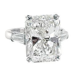 An Impressive 15.03 ct Radiant Cut Diamond GIA Cert Ring   1stdibs.com