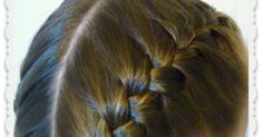 How to french braid step by step, and how to hold the strands. Video tutorial.
