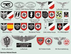 German helmet decals