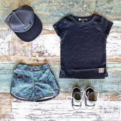 Toddler Boys Clothes ~ Beau Hudson black tall tee, Children of the Tribe palm valley shorts, Sudo cap & Converse high tops  [shop online & in-store in Noosa]   www.tinystyle.com.au  #boysfashion #coolkids #converse #toddlerboys #toddlerboysclothes #toddlerfashion #coolkidsclothes #beauhudson #sudokids #childrenofthetribe #conversekids