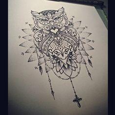 o w l . s k e t c h #theinkersclub #chrisyamamoto #sketches #tattoo #inspirationtatto #londrina